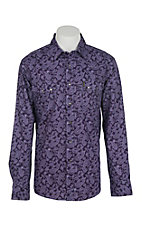 Cinch Men's Purple Paisley Modern Fit Western Shirt