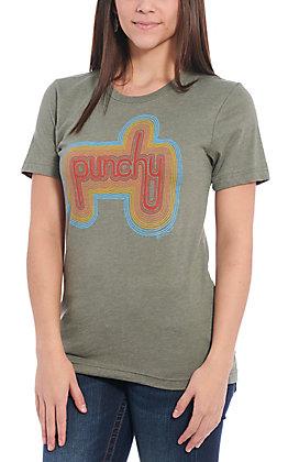 Benita Ceceille Women's Green Punchy Graphic Short Sleeve T-Shirt