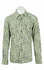 Cinch Men's Modern Fit Yellow Floral Print L/S Western Shirt