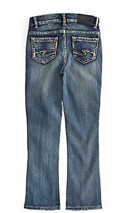 Silver Girls' Tammy Medium Wash Boot Cut Jeans