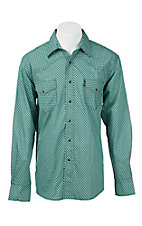 Cinch Men's Teal and Black Print Modern Fit Western Shirt 1322012