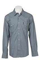 Cinch Men's Modern Fit Teal Geo Print Long Sleeve Western Snap Shirt