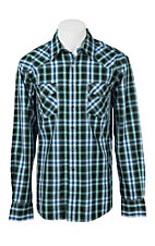Cinch Men's Black and Blue Plaid Modern Fit Western Shirt 1322010