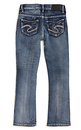 Silver Jeans Girls' Tammy Medium Wash Slim Boot Cut Jeans (7-16)