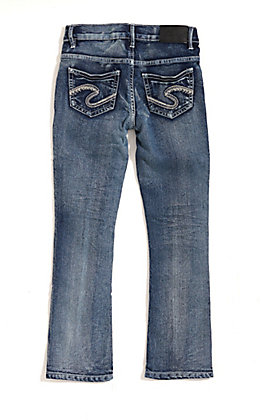 Silver Jeans Toddlers Tammy Medium Wash Slim Boot Cut Jeans (2T-4T)