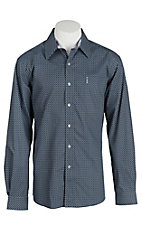 Cinch Men's Modern Fit Purple and Blue Print L/S Shirt