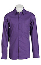 Cinch Men's Modern Fit Solid Purple L/S Shirt