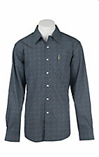 Cinch Men's Modern Fit Navy Print L/S Western Shirt