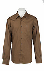 Cinch Men's Brown Mini Print L/S Western Shirt