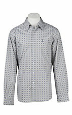 Cinch Men's Modern Fit Grey Print L/S Western Shirt