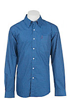 Cinch Men's Blue and White Print Long Sleeve Western Shirt