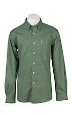 Cinch Men's Green Print Modern Fit Western Shirt 1343028