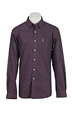 Cinch Men's Purple Print Modern Fit Western Shirt 1343030