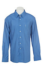 Cinch Men's Modern Fit Blue Geo Print Long Sleeve Western Shirt