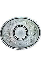 Montana Silversmiths Large Silver Oval Buckle
