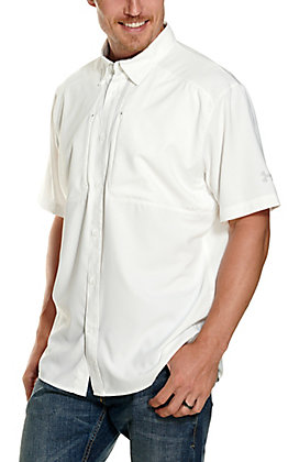 Under Armour Men's Tide Chaser 2.0 White Short Sleeve Fishing Shirt