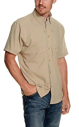 Under Armour Men's Tide Chaser 2.0 Khaki Short Sleeve Fishing Shirt