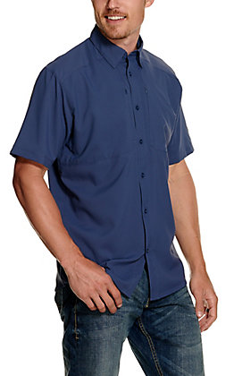 Under Armour Men's Tide Chaser 2.0 Blue Ink Navy Short Sleeve Fishing Shirt