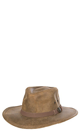 Outback Trading Company Men's Kodiak Brown Distressed Leather Hat