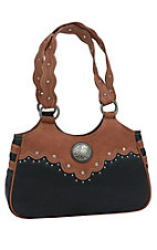 Wrangler River Black & Sienna Brown Satchel