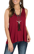 Jody Women's Light Ruby Tank Casual Knit Shirt