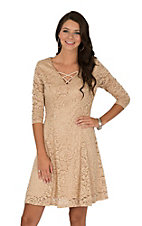 Jody Women's Light Tan Lace Dress