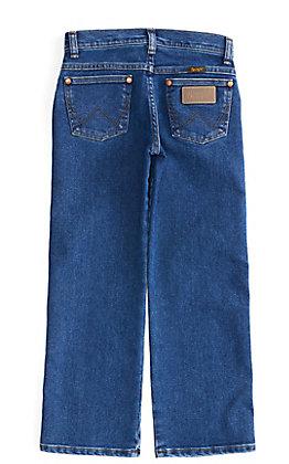 Wrangler Boys' Cowboy Cut Medium Stonewash Original Fit Active Flex Stretch Jeans (8-16)