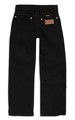 Wrangler Boys Black Cut Original Fit Jeans (8-18) - Husky