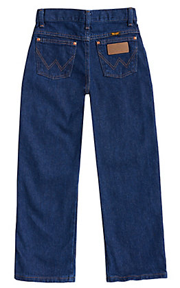 Wrangler Boys' Cowboy Cut Prewashed Indigo Original Fit Straight Leg Jeans (8-18 Husky)
