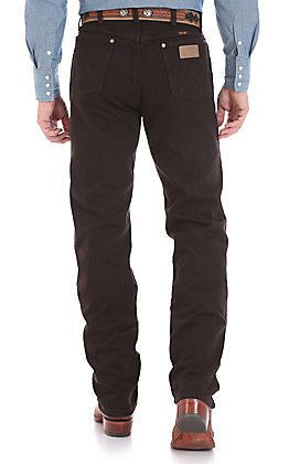 Wrangler Men's Cowboy Cut Black Chocolate Original Fit Jean