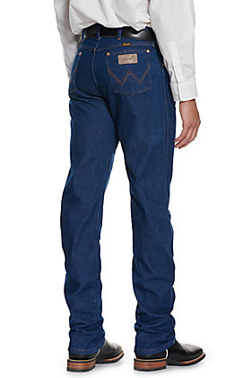 Wrangler Men's Cowboy Cut Prewashed Indigo Original Fit Straight Leg Jeans