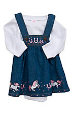 Baby Korral Denim Pony Overall Long Sleeves Onesie