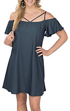 Jody Women's Denim Cold Shoulder Dress