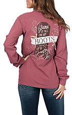 Women's Red Blame It All on My Boots Long Sleeve T-Shirt