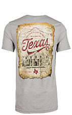 Men's Canvas Grey Never Forget Alamo Graphic T-Shirt