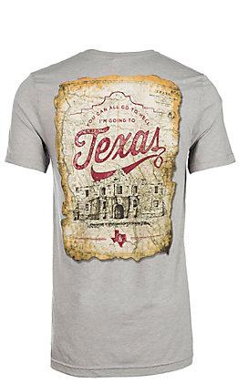 Men's Canvas Grey Never Forget Alamo Graphic T-Shirt