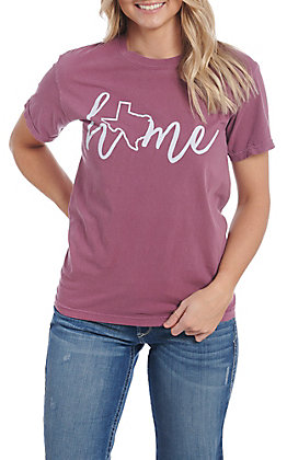 Women's Berry Deep In the Heart of Texas Short Sleeve  T-Shirt