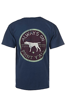C.C. Creations Men's Navy Always On Point S/S Graphic T-Shirt
