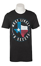 C.C. Creations Men's Heather Black Most Likely To Secede S/S Graphic T-Shirt