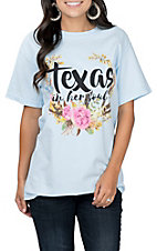 Women's Texas In Her Soul Blue T-Shirt