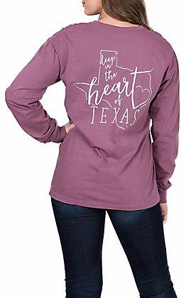 Women's Long Sleeve Deep in The Heart of Texas T-Shirt