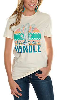 C.C. Creations Women's Natural Hard To Handle Short Sleeve T-Shirt