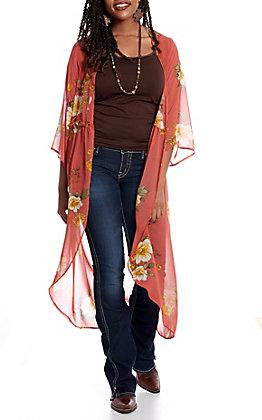 Jody Women's Rust Floral Duster