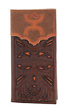 Hooey Men's Orange Cut Out Rodeo Wallet