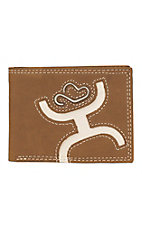HOOey BifoldBrown with Bone Cowboy Logo Inlay Wallet