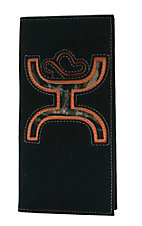 HOOey Black with Camo Canvas Logo Inlay Rodeo Wallet/Checkbook Cover