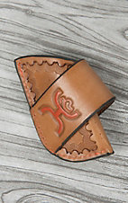 Hooey Signature Tan with Orange Logo Leather Side Draw Knife Sheath