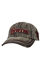 Twister Distressed Brown with Maroon Logo Cap