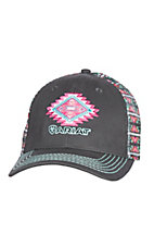 Ariat Grey Aztec Patch Velcro Back Cap