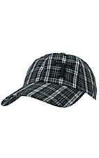 Twister Black & White Plaid Logo Cap